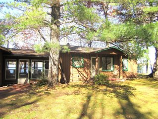 3 bedroom cabin on Lake Shishebogama in Minocqua, WI
