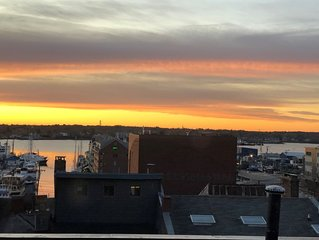 BRAND NEW luxury penthouse condo w/ water views right in the heart of Old Port!