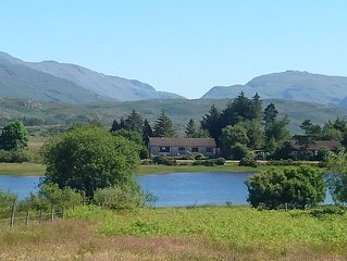 Highland home, sleeps up to 8, beautiful setting on the shores of Loch Shiel,