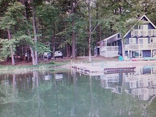 3 bedroom 6 bed Home two story with basement, 3 decks on Privately Owned Lake.