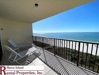 Sea Winds 603; New KING BED! 2 Bedroom Beach Front condo!