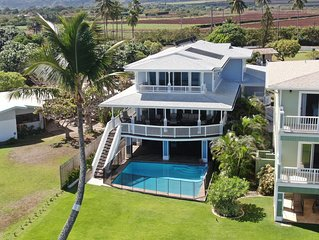 Oceanfront Estate w/Pool & White Sand Beach & Whale Watching