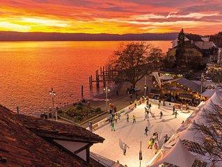 Moderne Ferienwohnung in UB mit See und Bergsicht, ruhig und  zentral