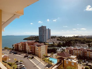 New A/C in the Living room! Sub-Penthouse, Ocean & City Views at Pena Mar!