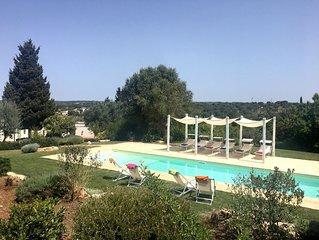 Trulli di charme con piscina privata nella campagna di Ostuni