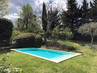 Rare! Mas de village en pierre 4 ch -  piscine chauffee - au ceour de Goudargues