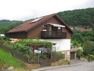 Ferienwohnung liegt am Neckartalradweg und Neckarsteig