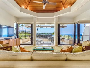 Dramatic Ocean Views, Spacious 1BR w/ Private Lanai and updated living area