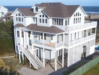 Delightful Views! Semi-Oceanfront w/ Pool, Hot Tub, Game Room, Grill, Family-Fun