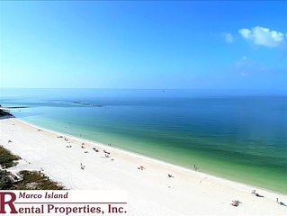 Sea Winds 1501; Beautiful Beachfront view from this corner unit