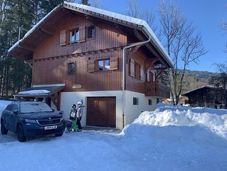 Chalet Cimbria - Grand Massif ski area - stunning views, free wifi, hot tub