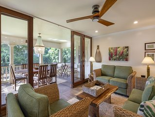 Prime Poipu Beach Home Air Conditioning, WIFI,Well Stocked Kitchen, Beach Chairs