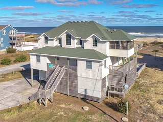 Beach Music - Spotless 8 Bedroom Oceanfront Home in Waves
