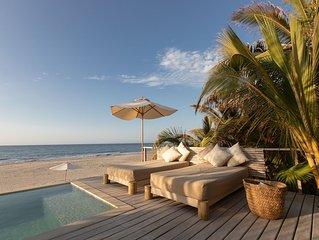 A luxury beachfront home in Mancora Beach