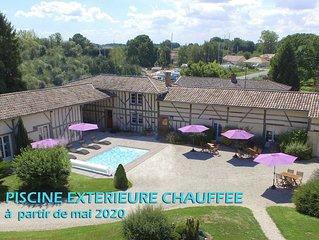 Gite de charme  au bord du Lac du Der-Piscine ext chauffee -SPA- 5 ch– 5 sdb