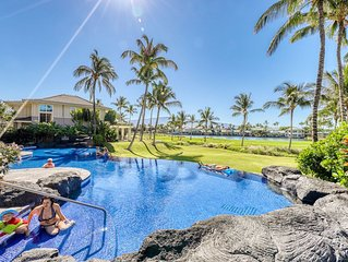 Golf course-view condo w/ shared pool, gym & jacuzzi - near beach!