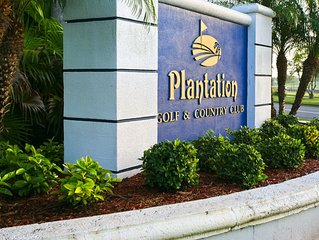 Two bedroom, two bath condo located on the second floor at Plantation Golf and C