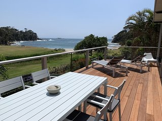Absolute beach front holiday house in Malua Bay
