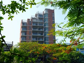 Top duplex floor beside the Dhanmondi Lake.  Condominium with 24 hours security