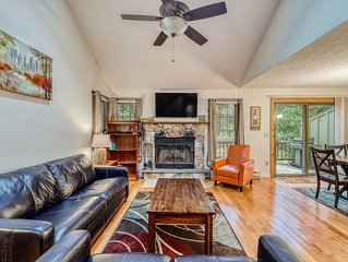 Premium Cleaned | Cozy, family-friendly home w/ a wood-burning fireplace & deck