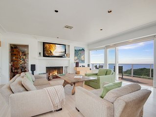 Spectacular immaculate 180 degree ocean views overlooking Central Malibu.