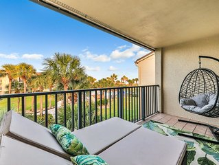 Premium Cleaned | Dog-friendly, two-story, beachfront condo w/ shared pools & be