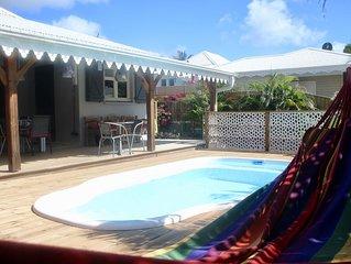 Villa avec piscine proche plages - Ste Luce
