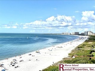 Sea Winds 1001; BEACHFRONT condo overlooking Marco's South Beach. Free Wifi and