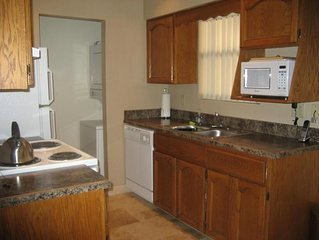 Kitchen-dshwr, oven w/ electric range, disposal, toaster, blender, wash/dryer
