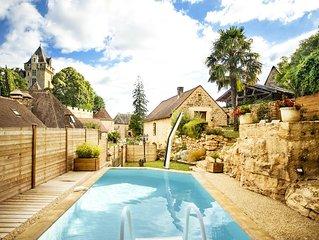 Les terrasses de Montfort piscine, jardin et jacuzzi prives aux portes de Sarlat