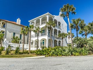 'The Preston' South Side 30A Seacrest Beach Vacation Home with Carriage House!