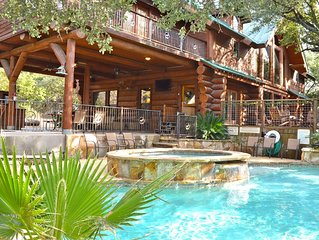 Secluded Log Home on 5 acres, private pool/hot tub & resort amenities
