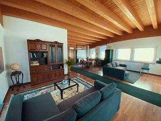 Aosta - Grande appartamento finiture di prestigio, 4-6-8 persone