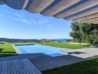 MODERN VILLA LAKE VIEW near Rome, PRIVATE Pool,  Free WI-FI