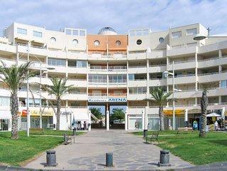 Appart. Clim, 120m plage, 6 pers, terrasse, parking privé CAP D'AGDE Rochelongue