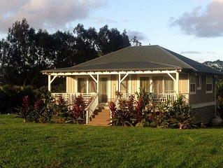 Paradise Found! Serene Kilauea 2 Bedroom North Shore Cottage, Kauai