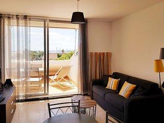 Appartement T2 avec magnifique vue plage à Mèze , proche Sète et Cap d'Agde