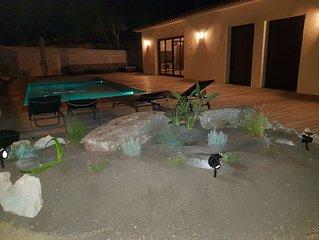 Villa neuve climatisée avec piscine chauffée (Hauts de Bonifacio)