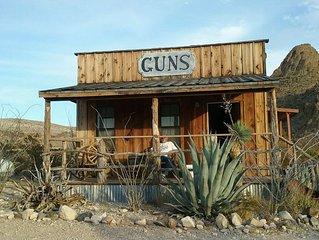 Big Bend Lodging at Ten Bits Ranch | Room #3  (The Gun Shop)