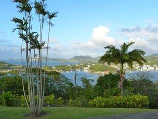 Vantage La Toc -Villa with spectacular Caribbean Sea views, 10 min walk to beach
