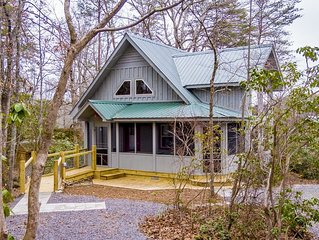 Canyon Falls Cottage on an estate at Desoto Falls Mentone AL  Central Time Zone