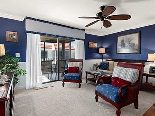 Nautical Beachfront 3 bedroom, 2 bath at Sanibel Moorings Resort #712