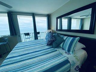 Oceanfront Amazing San Juan Condo with Balcony in Trendy Hipster Condado, PR