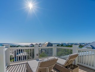 Paradise30A~The White Pearl, Gulf Views! Golf Cart & Private heated pool include