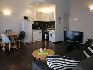 Appartement très calme à Besançon pour 2 personnes avec grande terrasse
