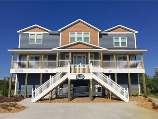 #411: OCEANSIDE in Corolla w/HtdPool, HotTub, Elev, RecRm & Thtr