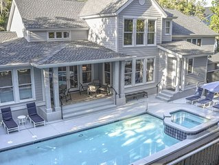 Fabulous 6 Bedroom Home with Pool, Spa, 2 Master Suites & Easy Walk to Beach!