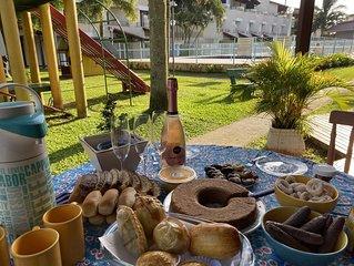 Condomínio incrível para a família na praia da Cachoeira do Bom Jesus/Fpolis!