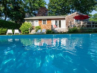 LOVE&PEACE IN SWEET SAG HARBOR -HAMPTONS COTTAGE POOL, 3 BEDS,2 BTHS CONVENIENT