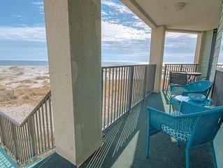 Walk Off OCEANFRONT Balcony to Beach! Community Pool!